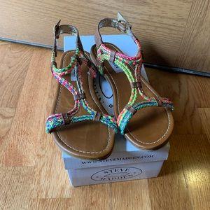Little Girls Multi-Color Sandals - Steve Madden